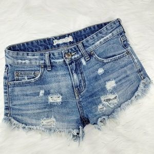 Free People | cut off distressed shorts